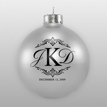 ornament wedding favor...such a cute idea with your new monogram