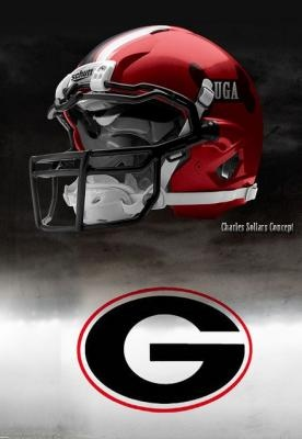 Georgia Bulldogs football helmet - #to2ne