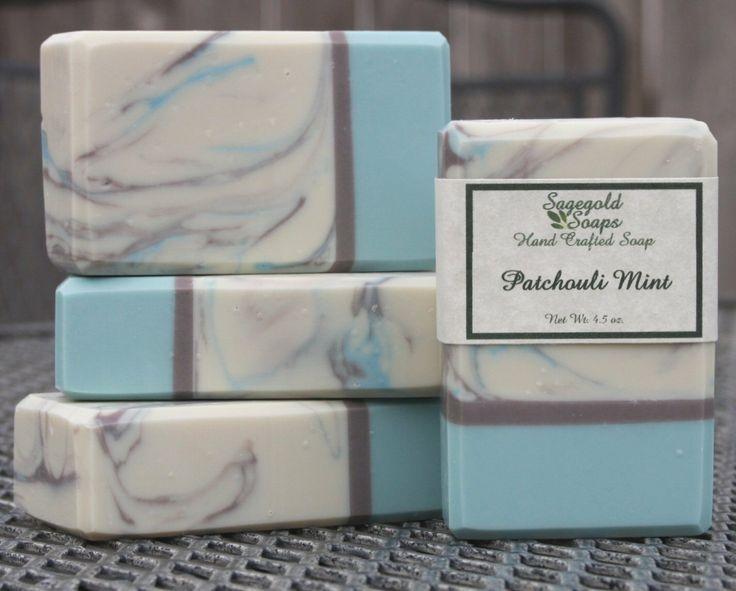 Patchouli Mint Handmade Artisan Soap by sagegold on Etsy, $4.75