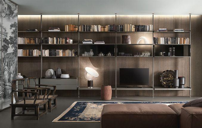 Rimadesio porte scorrevoli in vetro e alluminio librerie cabine