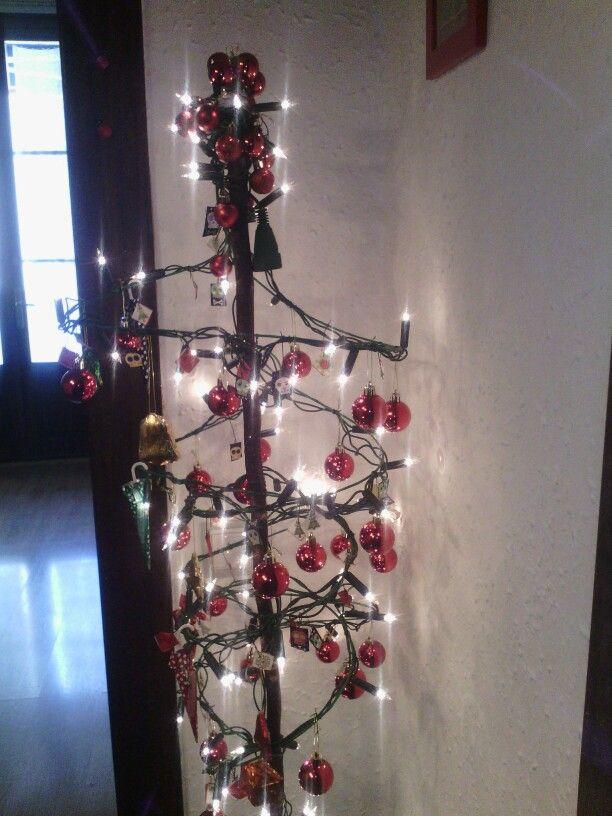 Arbolito de navidad con alambre reciclado