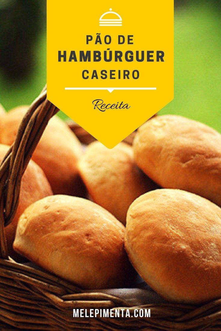 Pão de Hambúrguer Caseiro    Vai fazer hambúrguer em casa? Então prepare esse pão fofinho e muito saboroso. Seus burgers vão ficar ainda mais incríveis.    Clique para ver a receita!