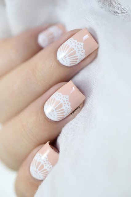 Marine Loves Polish: Joyeux Nehmaahnniversaire ! - Lace nail art - moyou bridal 06 - bundle monster bam! white - kiko 507