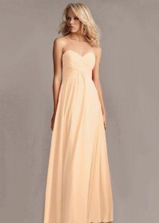ELLA Peach Strapless Long Evening Bridesmaid Wedding Ballgown Dress UK – Belle Boutique UK