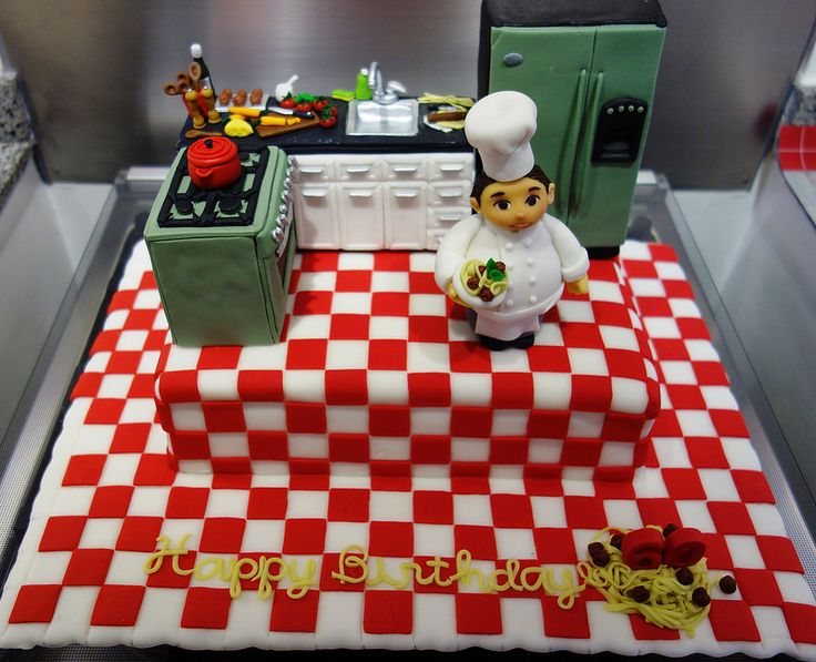 Chef 39 s cake little miss oc 39 s kitchen cakes pinterest for Chef themed kitchen ideas