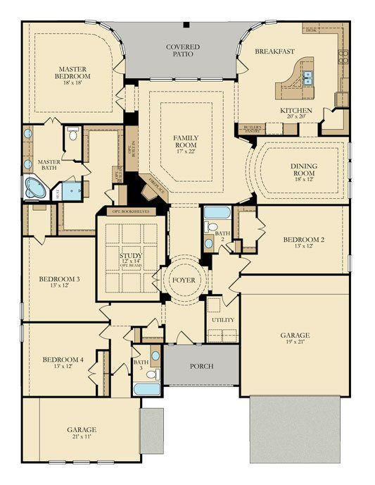 Lennar Village Builders Capiello 3964 1 Story With 4 BR Formal Dining Just Need To Put An Extra Door In The Master Closet