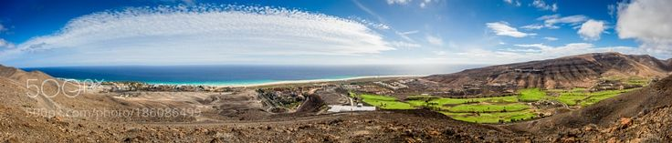 """Morro Jable - Fuerteventura (panorama) Go to http://iBoatCity.com and use code PINTEREST for free shipping on your first order! (Lower 48 USA Only). Sign up for our email newsletter to get your free guide: """"Boat Buyer's Guide for Beginners."""""""