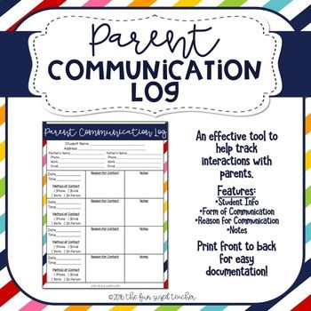 This form can be printed on the front and back of cardstock for durability throughout the school year. This is a quick, simple and easy to use document for teachers to utilize when contacting parents throughout the school year, and an effective accountability tool to use if needed for