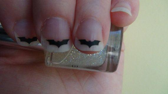 Nail Art BAT Style 2 Decals Logo Set of 50 Vinyl Batman Stickers Applique Manicure Pedicure Party Gifts Stocking Stuffers
