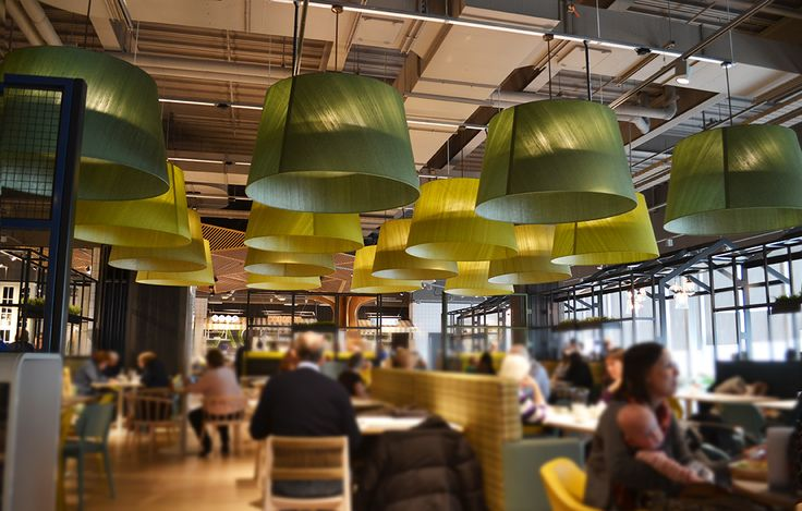 John Lewis, Birmingham. Giant green lampshade bespoke project