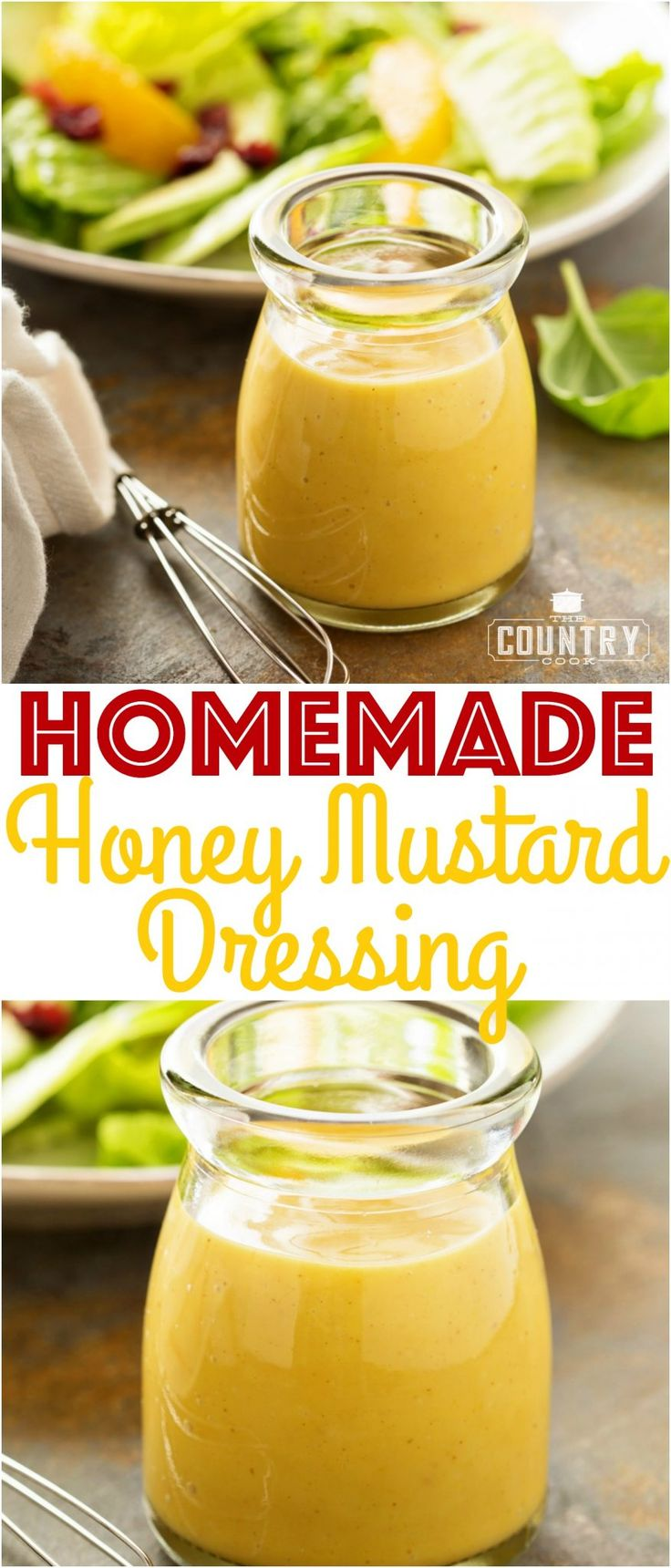 Homemade Honey Mustard Dressing and Dipping sauce recipe from The Country Cook