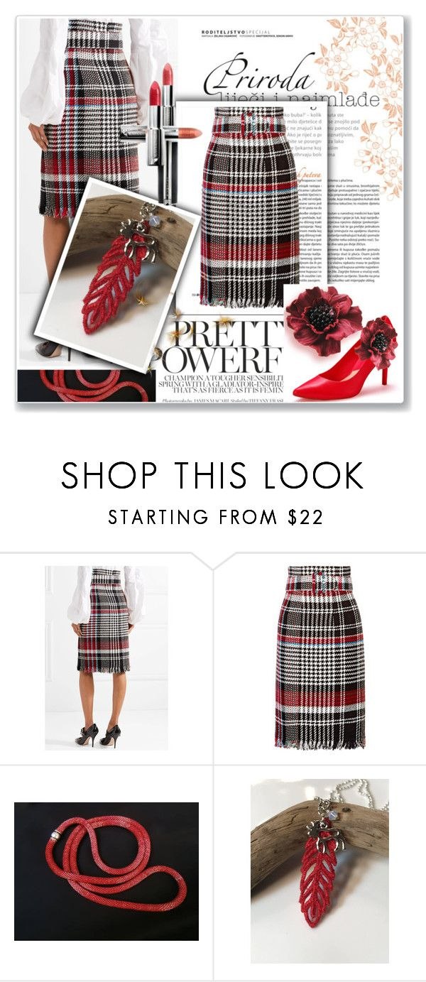 """Pretty and Powerful"" by alidishu ❤ liked on Polyvore featuring Oscar de la Renta, Chilli Pepper, Le Donne, etsy, jewelry and accessories"