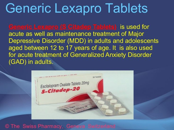 Is Generic Lexapro Available