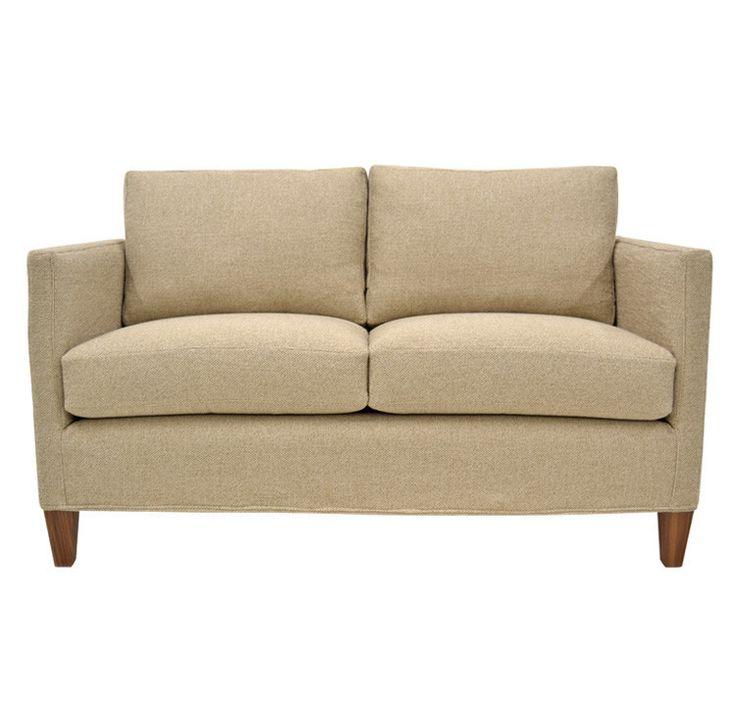 Quatrine Furniture   Mid Century Slipcovered Loveseat