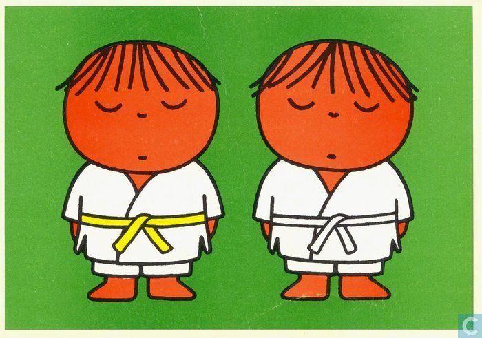 Ansichtkaarten - Voor het kind kaarten - Voor het Kind - Judoka Dick Bruna