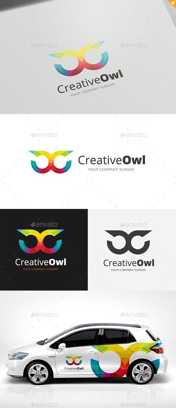 Creative Owl Logo Template #design Download: http://graphicriver.net/item/creative-owl-logo/14128788?ref=ksioks