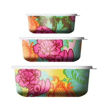 Colorful food storage containers