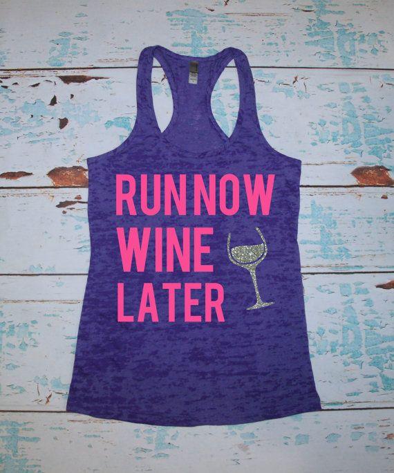 Women's Burnout tank top. Run Now Wine by strongconfidentYOU