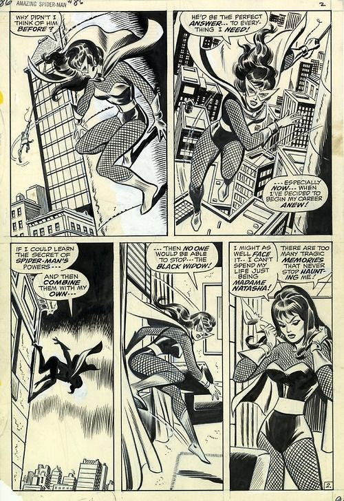 A page from Amazing Spder-Man #86 by John Romita and Jim Mooney.