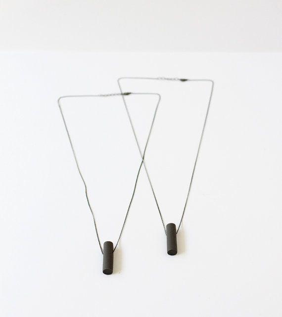 grey dash necklace | AMM Jewelry