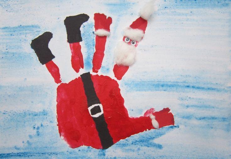 pinterest handprints | Inspiration from here (through Pinterest)