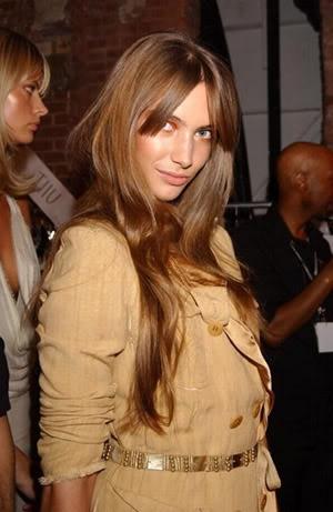 bangs & long brown hair
