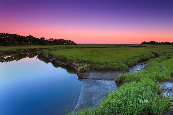 Today's sunrise from Eastham, Massachusetts salt marshlands. Cape Cod images by photographer Dapixara https://dapixara.com