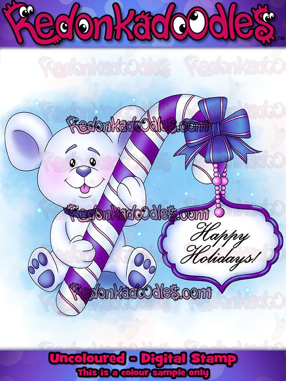 Pretty cute Christmas digital stamp for handmade cards and