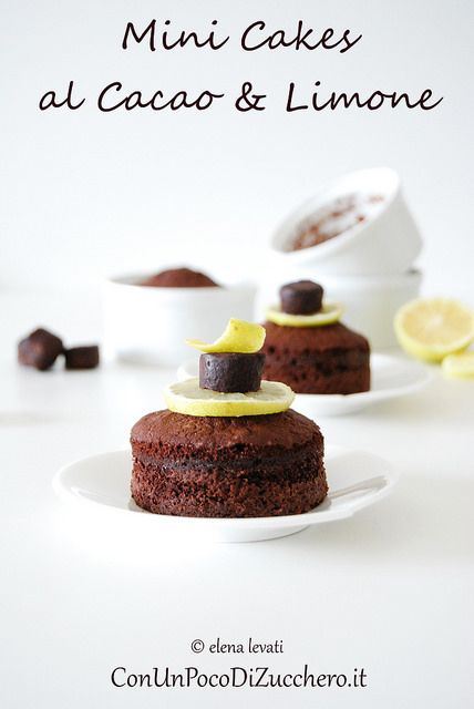 Cocoa and Lemon mini cakes