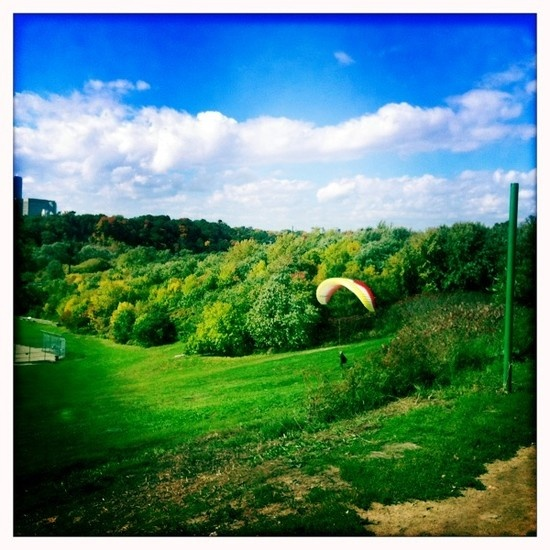 Gliding attempts in Riverdale Park East, Toronto