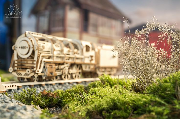 Richly detailed with an eye toward realism and romance, the UGEARS Steam Locomotive with Tender is the true symbol of 19th century technology and adventure that captures