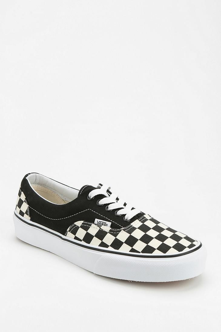 checkered lace up vans