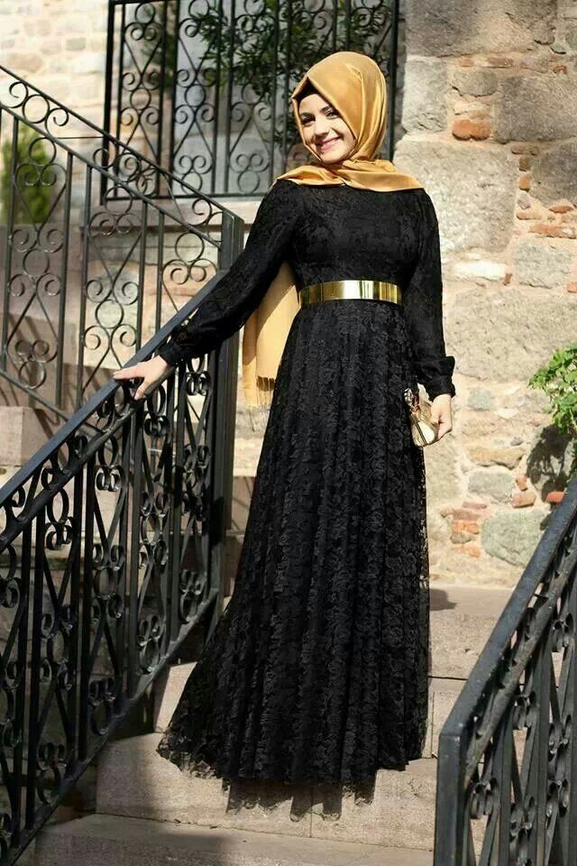 Black & Gold Hijab