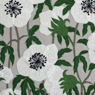 White Flower   /   Embroidery
