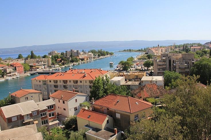 Twierdza Mirabella - panorama Omisa  #chorwacja #croatia
