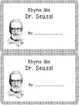 Students will love getting to create rhymes like Dr. Seuss! My students first complete the rhyme book and then will create their own rhyming poem or story using their rhyme book. The rhyme is differentiated, as one copy has sentence stems to complete with a rhyming word, or