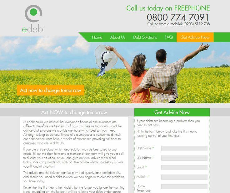 Zeal Create website build   eDebt