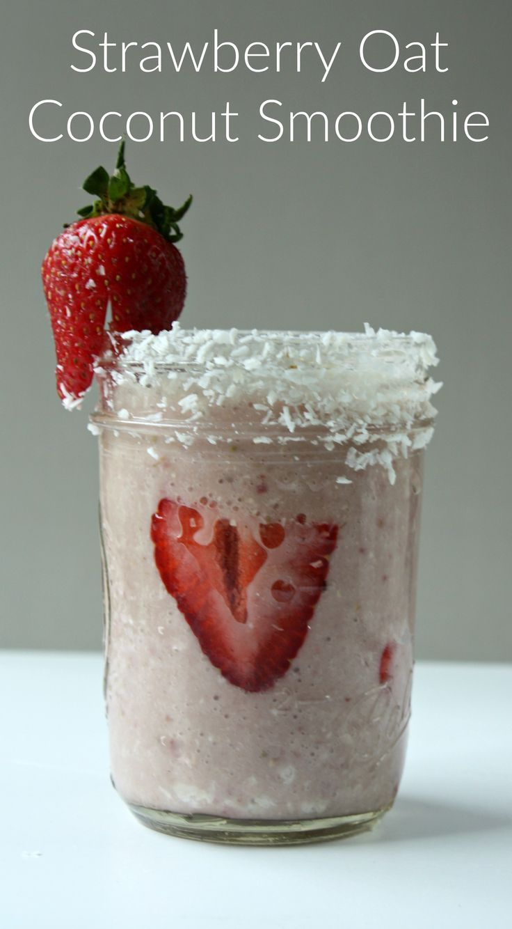 how to make strawberry smoothie with coconut milk