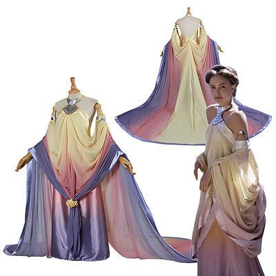 Customized Star Wars Cosplay Queen Padme Naberrie Amidala Dress Royal Costume