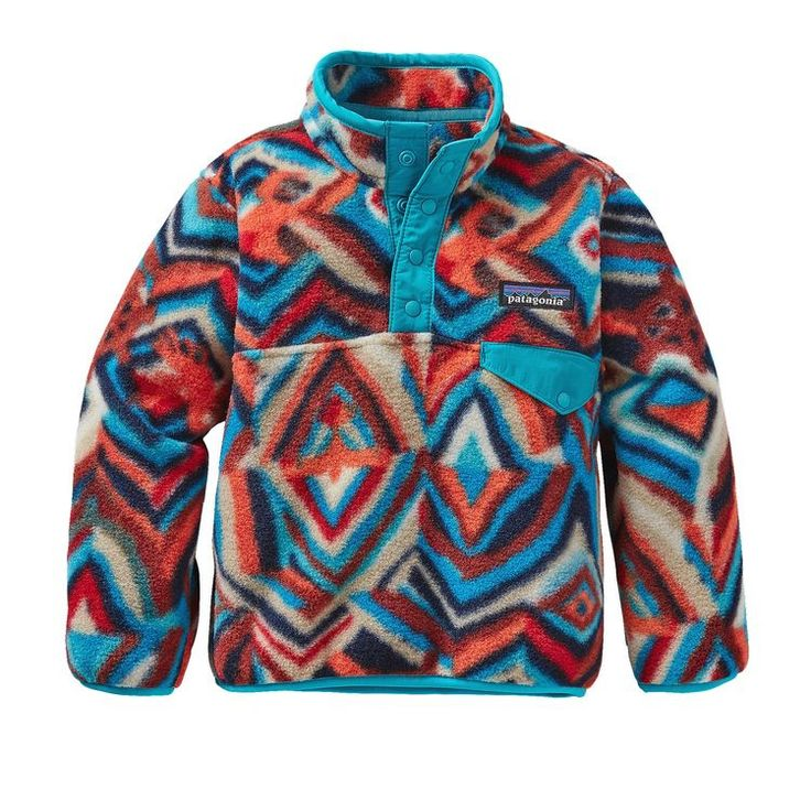 Patagonia Baby Light Weight Synchilla Snap-T Pullover- Raven Tapestry- Navy Blue from Shop Southern Roots TX