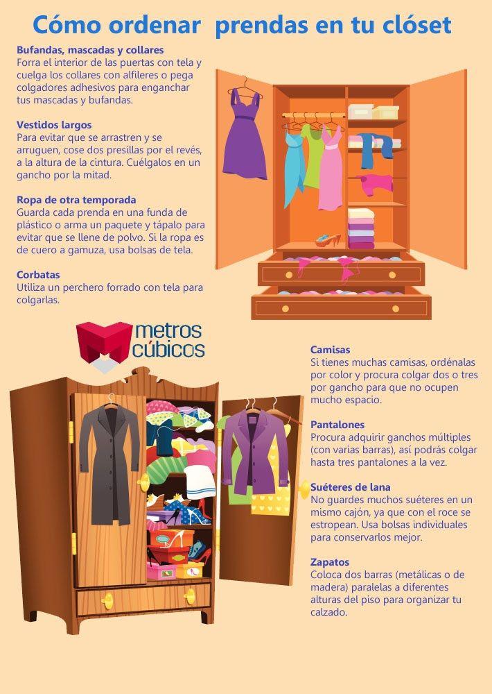ideas para ordenar prendas y accesorios en tu clóset