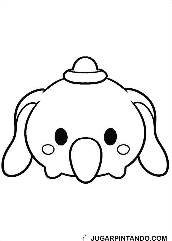 Tsum Tsum Coloring Pages Dumbo Tsum Tsum Para Colorear Paginas Para Colorear Disney Tsum Tsum
