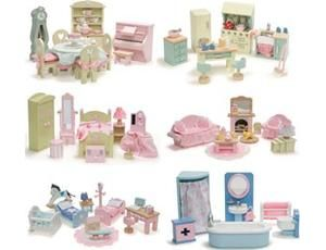 the daisylane deluxe furniture collection set of 6 from le toy van gives you a complete