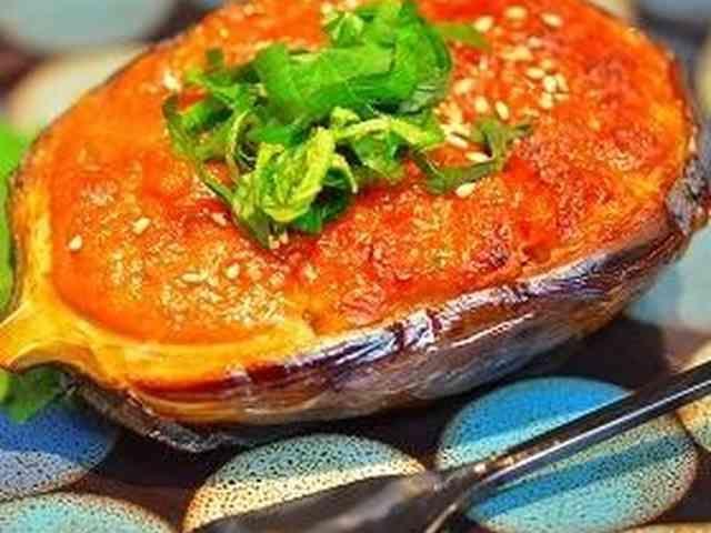 ✿丸茄子のニンニク味噌田楽✿の画像