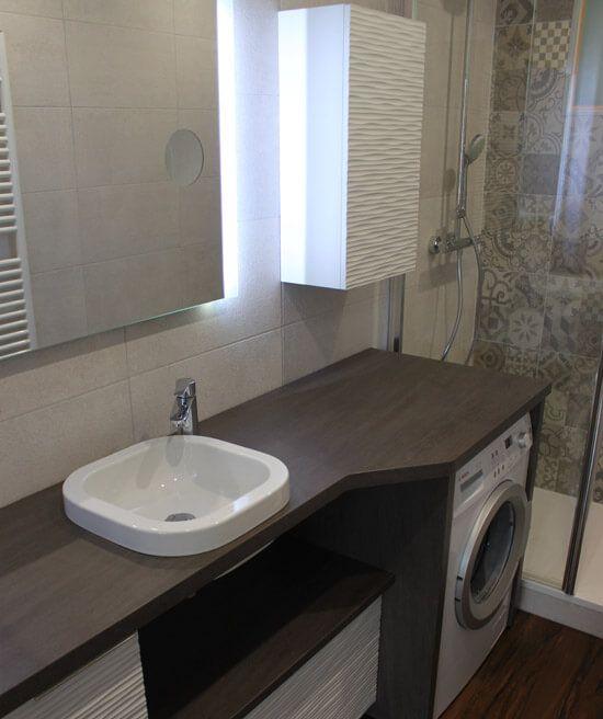 17 meilleures id es propos de meuble lave main sur - Integrer machine a laver dans salle de bain ...
