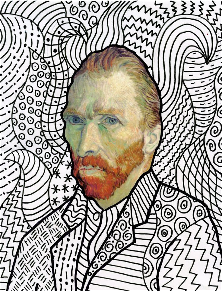 Art Projects for Kids: Van Gogh FREE Head Template