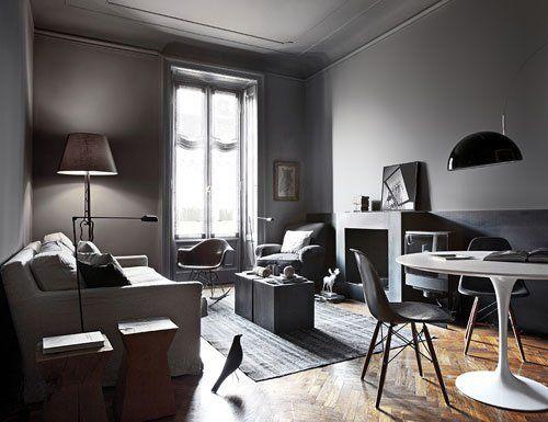 Un grand canapé, une belle table à manger et des touches de béton | @decocrush - www.decocrush.fr