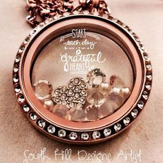 Love this customised locket from South Hill Design
