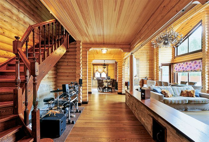 Загородный деревянный дом в стиле шале | Дома из оцилиндрованного бревна | Журнал «Деревянные дома»