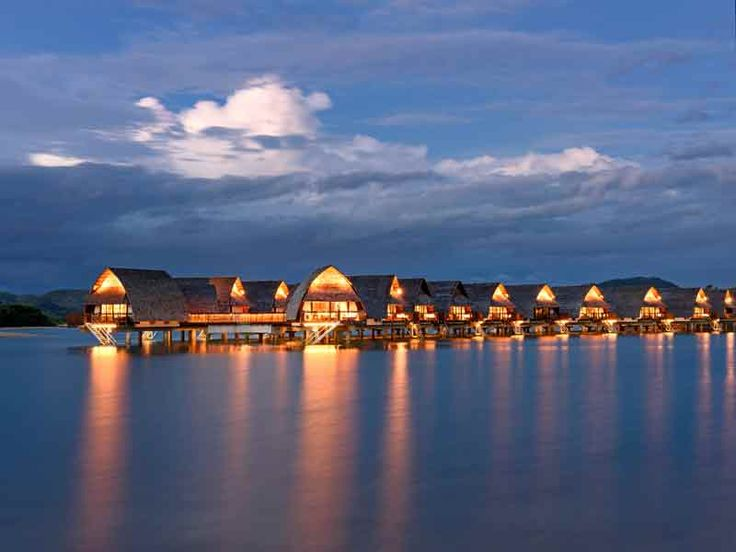 Stunning over water bure villas